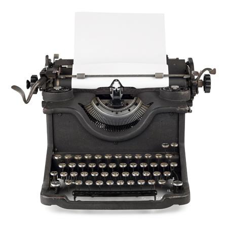 old typewriter with paper sheet