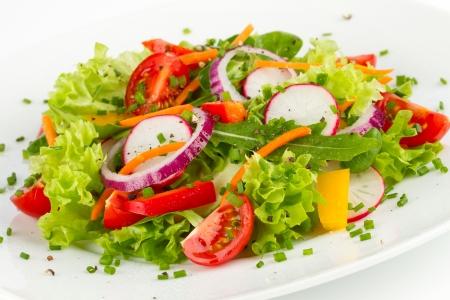 carots: dish with fresh salad