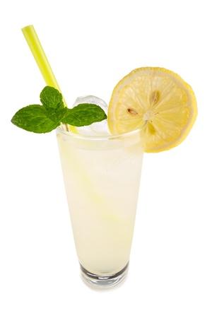 longdrink: longdrink vodka lemon in front of white background