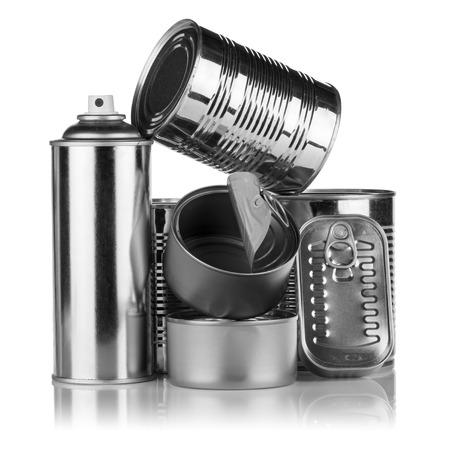 reciclable: pila de productos de aluminio