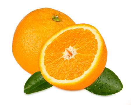orange with orange slices and leafs