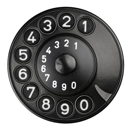 fixed line: teclado de marcaci�n rotativa de un tel�fono antiguo