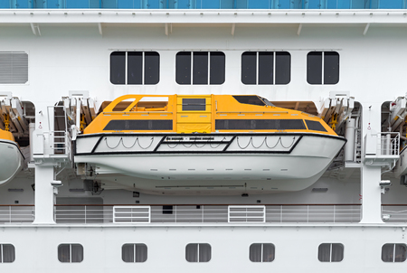 lifeboat: lifeboat on a cruise ship