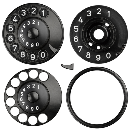 dial pad: rotary dial from an old telephone