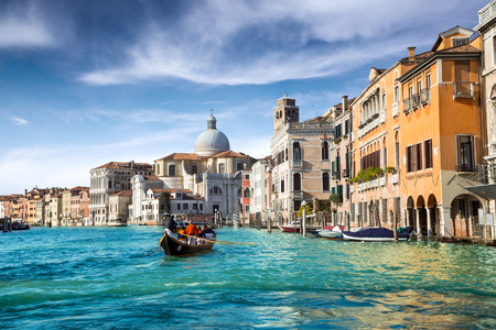 historically: gondola in the canal of venice