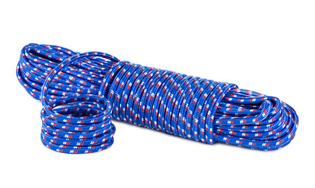 stretchy: a blue polyamide rope Stock Photo