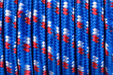 threadlike: closeup of an polyamide rope Stock Photo