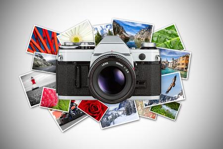 graining: retro slr photo concept Stock Photo