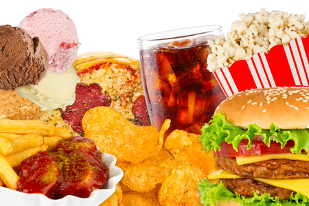 junk: fast food concept Stock Photo