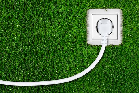concepto de la energía verde