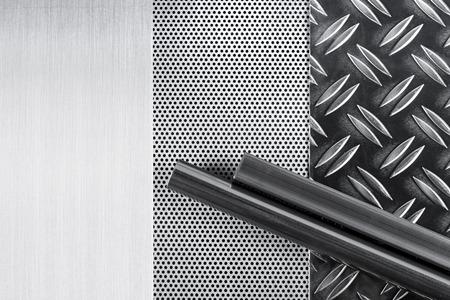 industrie: verschiedene metall bleche mit profilen
