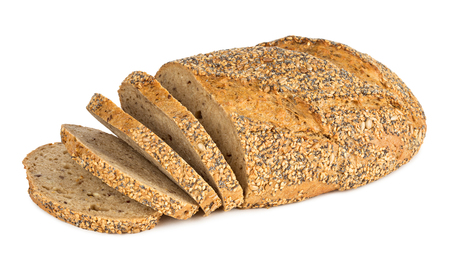 wholemeal: multi grain bread with slices