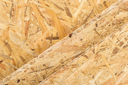 tongue and groove: textur of osb boards Stock Photo