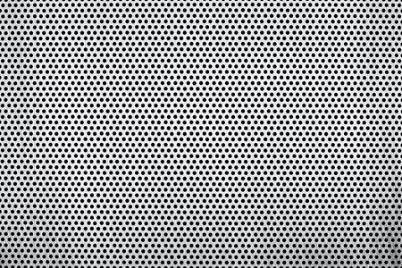 glanz: textur eines aluminium lochbleches Stock Photo