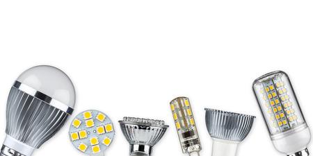 different led light bulbs Banque d'images