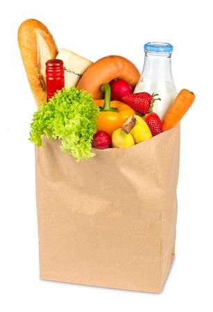 boodschappentas gevuld met voedsel
