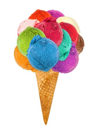 gran cono de helado Foto de archivo