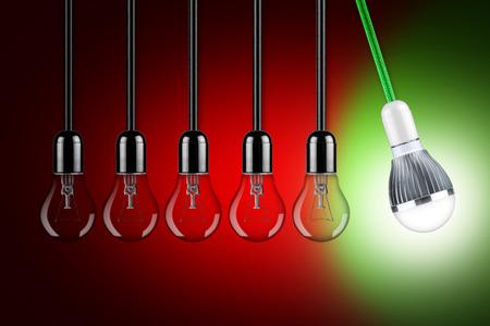 LED lamp slinger Stockfoto