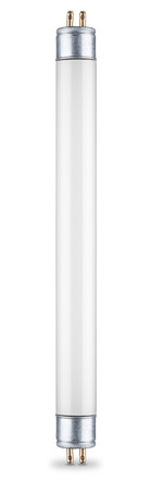 fluorescent: fluorescent light tube on white background