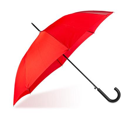 red umbrella: red umbrella on white background