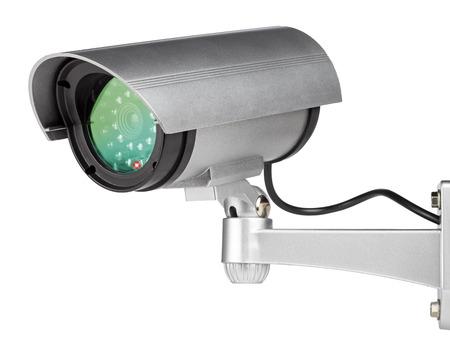 big brother spy: pared de c�maras de seguridad montado en el fondo blanco