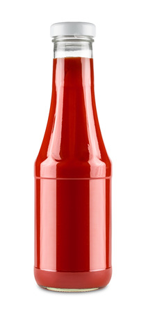 tomato catsup: glass bottle of tamto ketchup