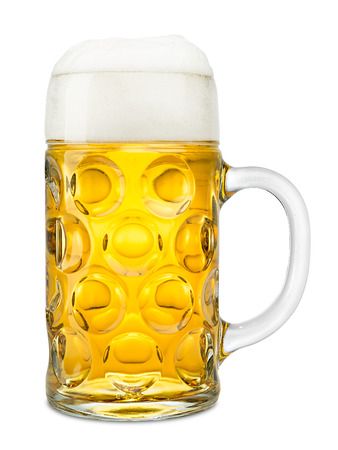 beer glass: one liter of german oktoberfest beer