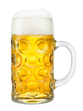 stein: one liter of german oktoberfest beer