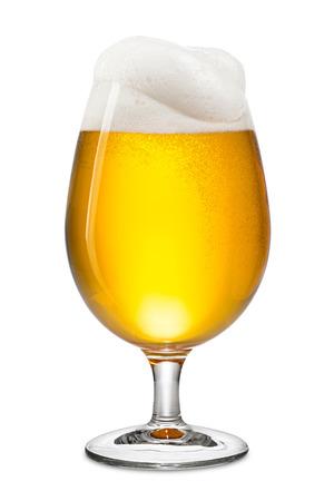 fresh bier in tulip on white background Stockfoto
