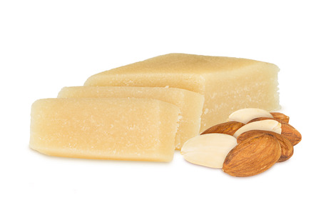 marzipan block with almonds