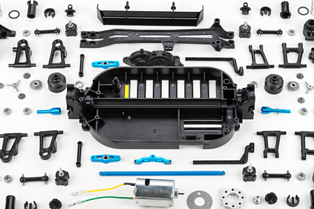 rc car assembly kit Stock Photo