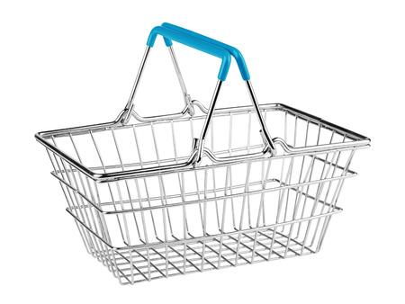 shopping basket: shopping basket on white background