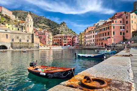 vernazza: fishing boats in Vernazza Italy