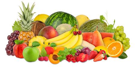 various fruits on white background Stockfoto
