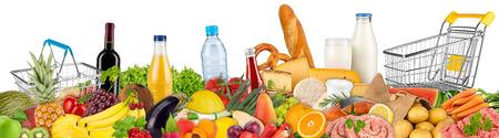 verse variatie van voedsel en dranken