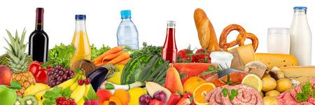 fresh variation of food and beverages