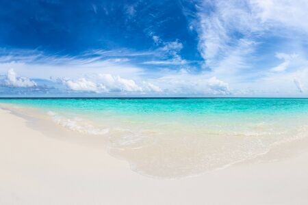 turquoise water: white sand beach with turquoise blue water Stock Photo