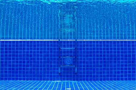 underwater photo of a swimming pool