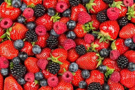 frutilla: una variación de frutas de baya Foto de archivo
