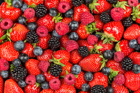 a variation of  berry fruits