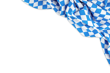 Beierse vlag op een witte achtergrond