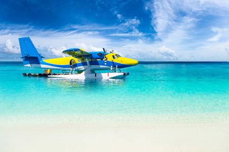 float: colorful sea plane in the indian ocean