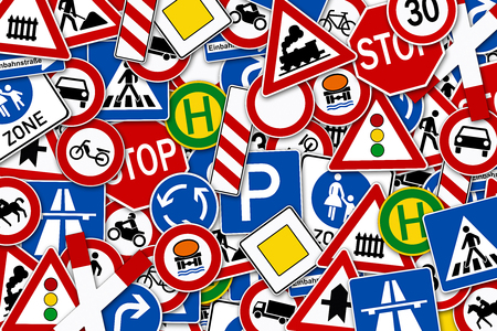 forest of street signs background