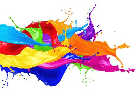 barvy: abstraktní barva stříkající izolovaných na bílém pozadí Reklamní fotografie