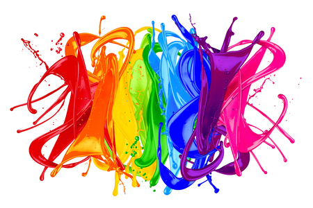 abstract color splash isolated on white background Standard-Bild