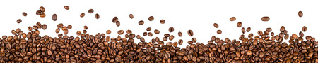 breakfast coffee: coffee beans isolated on white background