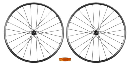 rims: set of bicycle rims isolated on white background