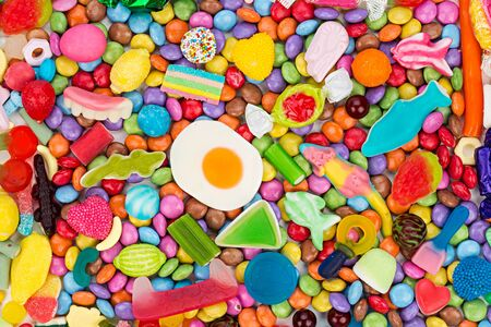 background of colorful tasty candies