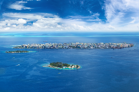 aerial view on male capital city of maldives