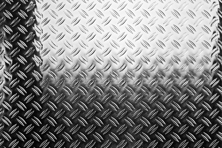 shiny polished aluminum new diamond plate metal texture background empty with copy space design pattern background Stok Fotoğraf